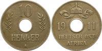 10 Heller 1911  A Deutsch Ostafrika  Sehr schön  38,00 EUR