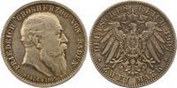 2 Mark 1907 Baden Friedrich I. 1856-1907. Schöne Patina. Vorzüglich +  70,00 EUR