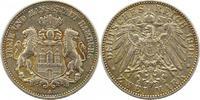 2 Mark 1908  J Hamburg  Sehr schön  38.12 US$ 34,00 EUR
