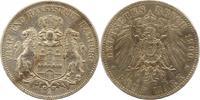 5 Mark 1900  J Hamburg  Sehr schön  39.24 US$ 35,00 EUR
