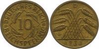 10 Pfennig  Weimarer Republik  Sehr schön  5.61 US$ 5,00 EUR