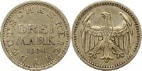 3 Mark 1924  A Weimarer Republik  Sehr schön +  40.37 US$ 36,00 EUR