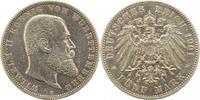 5 Mark 1901  F Württemberg Wilhelm II. 1891-1918. Zapponiert, sehr schö... 32,00 EUR