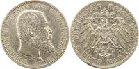 5 Mark 1906  F Württemberg Wilhelm II. 1891-1918. Zapponiert, sehr schö... 45,00 EUR