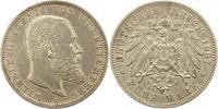 5 Mark 1907  F Württemberg Wilhelm II. 1891-1918. Zapponiert, sehr schö... 35,00 EUR