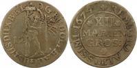12 Mariengroschen 1674 Braunschweig-Wolfenbüttel Rudolf August 1666-168... 30,00 EUR