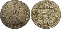 3 Kreuzer 1681 Salzburg Max Gandolph Graf Kuenburg 1668-1687. Vorzüglic... 32,00 EUR