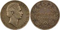 Gulden 1866 Bayern Ludwig II. 1864-1886. Schöne Patina. Winz. Randfehle... 72.88 US$ 65,00 EUR