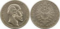 2 Mark 1876  A Mecklenburg-Schwerin Friedrich Franz II. 1842-1883. Leic... 190.62 US$ 170,00 EUR