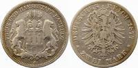 2 Mark 1878  J Hamburg  Schön - sehr schön  23,00 EUR  + 4,00 EUR frais d'envoi