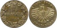 Kreuzer 1855 Frankfurt-Stadt  Vorzüglich +  15,00 EUR  zzgl. 4,00 EUR Versand