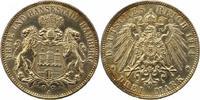 3 Mark 1914  J Hamburg  Leicht berieben, , fast vorzüglich  22,00 EUR  + 4,00 EUR frais d'envoi