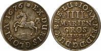 4 Mariengroschen 1676 Braunschweig-Calenberg-Hannover Johann Friedrich ... 70,00 EUR  + 4,00 EUR frais d'envoi