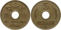 5 Heller 1913  A Deutsch Ostafrika  Winz. Schrötlingsfehler, sehr schön... 24,00 EUR  + 4,00 EUR frais d'envoi