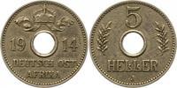 5 Heller 1914  J Deutsch Ostafrika  Sehr schön +  43.48 US$ 38,00 EUR  +  4.58 US$ shipping