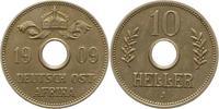 10 Heller 1909  J Deutsch Ostafrika  Vorzüglich  48.05 US$ 42,00 EUR  +  4.58 US$ shipping