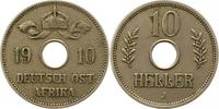 10 Heller 1910  J Deutsch Ostafrika  Sehr schön  34.32 US$ 30,00 EUR  +  4.58 US$ shipping