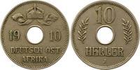 10 Heller 1910  J Deutsch Ostafrika  Sehr schön  30,00 EUR  + 4,00 EUR frais d'envoi