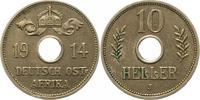 10 Heller 1914  J Deutsch Ostafrika  Winz. Kratzer, min. Randfehler, fa... 74.37 US$ 65,00 EUR  +  4.58 US$ shipping