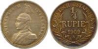 1/4 Rupie 1909  A Deutsch Ostafrika  Schöne Patina. Sehr schön - vorzüg... 60,00 EUR  + 4,00 EUR frais d'envoi