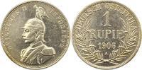 Rupie 1906  A Deutsch Ostafrika  Gereinigt, sehr schön +  75,00 EUR  + 4,00 EUR frais d'envoi