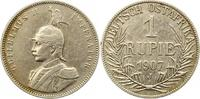 Rupie 1907  J Deutsch Ostafrika  Gereinigt, fast sehr schön  55,00 EUR  + 4,00 EUR frais d'envoi