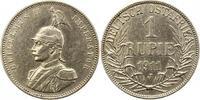 Rupie 1911  J Deutsch Ostafrika  Gereinigt, sehr schön  65,00 EUR  + 4,00 EUR frais d'envoi