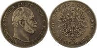 5 Mark 1876  A Preußen Wilhelm I. 1861-1888. Schön - sehr schön  32.03 US$ 28,00 EUR  +  4.58 US$ shipping