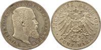 5 Mark 1913  F Württemberg Wilhelm II. 1891-1918. Fast vorzüglich  43.48 US$ 38,00 EUR  +  4.58 US$ shipping