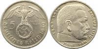 5 Mark 1939  A Drittes Reich  Winz. Kratzer, vorzüglich  14,00 EUR  +  4,00 EUR shipping