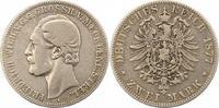 2 Mark 1877  A Mecklenburg-Strelitz Friedrich Wilhelm 1860-1904. Schön ... 225,00 EUR  +  4,00 EUR shipping