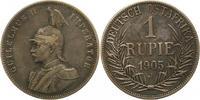 Rupie 1905  J Deutsch Ostafrika  Winz. Kratzer, sehr schön  50,00 EUR  +  4,00 EUR shipping