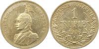 Rupie 1906  A Deutsch Ostafrika  Gereinigt, fast sehr schön  45,00 EUR  +  4,00 EUR shipping