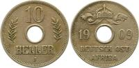 10 Heller 1909  J Deutsch Ostafrika  Sehr schön  20,00 EUR  +  4,00 EUR shipping