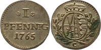Pfennig 1765  C Sachsen-Albertinische Linie Friedrich August III. 1763-... 45,00 EUR  zzgl. 4,00 EUR Versand