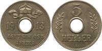 5 Heller 1913  A Deutsch Ostafrika  Winz. Kratzer, vorzüglich - Stempel... 106.50 US$ 95,00 EUR  +  4.48 US$ shipping