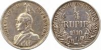 1/4 Rupie 1910  J Deutsch Ostafrika  Kratzer, sehr schön  42,00 EUR  + 4,00 EUR frais d'envoi
