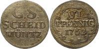 6 Pfennig 1762 Sachsen-Albertinische Linie Friedrich August II. 1733-17... 32,00 EUR  + 4,00 EUR frais d'envoi