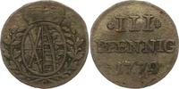 3 Pfennig 1779  C Sachsen-Albertinische Linie Friedrich August III. 176... 16.82 US$ 15,00 EUR  +  4.48 US$ shipping