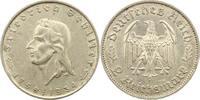2 Mark Schiller 1934  F Drittes Reich  Winz. Randfehler, vorzüglich  50,00 EUR  zzgl. 4,00 EUR Versand
