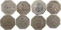 5 und 10 Pfennig 1917 Warburg (Westfalen), Kreis  Sehr schön  10,00 EUR  + 4,00 EUR frais d'envoi