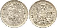 Dinero 1866  YB Peru  Fast vorzüglich  12,00 EUR  + 4,00 EUR frais d'envoi