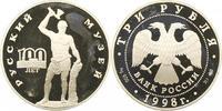 3 Rubel 1998 Russland UDSSR. Polierte Platte  40,00 EUR  + 4,00 EUR frais d'envoi