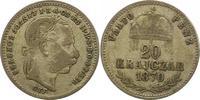 20 Kreuzer 1870 Haus Habsburg Franz Joseph I. 1848-1916. Schön - sehr s... 26,00 EUR  + 4,00 EUR frais d'envoi