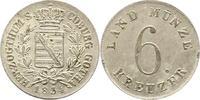 6 Kreuzer 1834 Sachsen-Coburg-Gotha Ernst I. 1826-1844. Fast Stempelglanz  60,00 EUR  + 4,00 EUR frais d'envoi