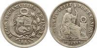 1/5 Sol 1865 Peru  Sehr schön  7,00 EUR  + 4,00 EUR frais d'envoi