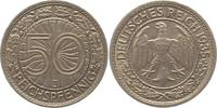 50 Reichspfennig 1935  J Weimarer Republik  Sehr schön +  12,00 EUR  + 4,00 EUR frais d'envoi