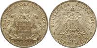 3 Mark 1908  J Hamburg  Vorzüglich +  32,00 EUR  + 4,00 EUR frais d'envoi