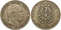 5 Mark 1876  C Preußen Wilhelm I. 1861-1888. Fast sehr schön  35,00 EUR  + 4,00 EUR frais d'envoi