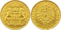 10 Mark Gold 1888  J Hamburg  Sehr schön  240,00 EUR  + 4,00 EUR frais d'envoi